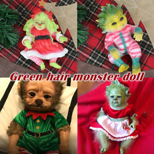 20cm Crazy Reborn Baby Grinch Toy Cartoon Doll Christmas Simualtion Doll Gift