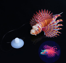 New Luminous Silicone Simulation Lionfish Aquarium Supplies Fish Tank Decoration