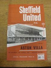 18/03/1967 Sheffield United V Aston Villa. grazie per la visualizzazione di questo oggetto, ti TR
