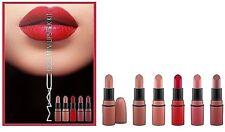 NIB MAC Idols Mini Lipstick Kit ~ Ruby Woo, Velvet Teddy, Whirl, Twig, Honeylove
