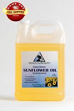 SUNFLOWER OIL REFINED ORGANIC by H&B Oils Center COLD PRESSED 100% PURE 7 LB