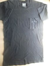 CHROME HEARTS black short sleeves front pocket tshirt blue cross S made in usa
