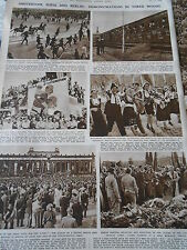 Amsterdam Sofia and Berlin Demonstrations in three Moods 1946 Print Article