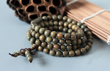6mm 108 Natural green ebony handmade buddhist prayer beads couples bracelet