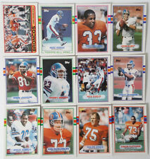 1989 Topps Denver Broncos Team Set of 12 Football Cards