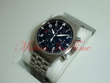 IWC Pilot's Watch Chronograph 43mm Stainless Steel Black Dial  Day-Date IW377704