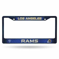 Los Angeles Rams Retro LBL Custm Navy Chrome Metal License Plate Tag Frame Cover