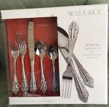 Wallace Antique Baroque 65 Piece Flatware Set Service For 12 NEW