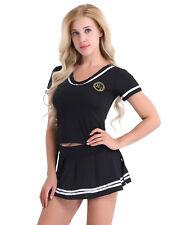 Naughty Women Lingerie Dress Christmas Cheerleader Uniform Student Costume S