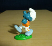 Smurfs 20172 Jogger Smurf Jogging Orange Jacket Vintage Figure PVC Toy Figurine