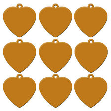 100pcs Aluminum Heart Type Dog Tags Personalized Cat Pet Name Tags No Engraving