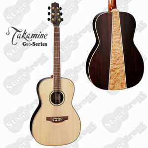 TAKAMINE GY93NAT G90 SERIES NEW YORKER ACOUSTIC SOLID TOP GUITAR. QUILTED BACK