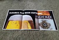 "1983 ANDEKER Pabst Brewing Co. CLEARLY THE BEER SUPREME Beer Poster 26.5""x12.5"""