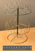 RARE! BRASS MID CENTURY SPINNING SHOE RACK! RETRO DECORATOR ATOMIC VTG 50'S 60'S