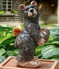 Bear Garden Figure Statue Beehive Butterfly Accents Indoor Outdoor Decoration