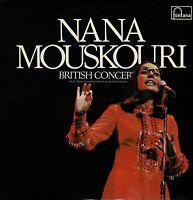 "NANA MOUSKOURI British Concert 12"" Vinyl Gatefold Album Two LPs Fontana 6649 DA"