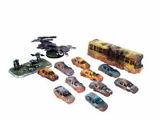11x 10mm N Scale Ruined cars for Dropzone Commander, Flames of War, wargames