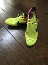 NIKE ZOOM VICTORY 3 OC TRACK & FIELD SPIKES VOLT PINK BLACK Shoes 882006-999 12