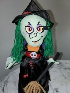 """NWT Chantilly Lane Halloween 14"""" Spellinda Witch I Put A Spell On You Animated"""