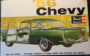 RARE Vintage OPEN COMPLETE Revell 1956 Chevy 1:25 Scale Model Kit H-1273-*1969**