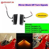 LED Turn Signal Kit Mirror Block Off For Ducati Panigale V4 V4S V4 Speciale V4R