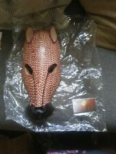 """Sculpture Wooden Cheetah Mask 14""""Made in Kenya Great for Decorating Afrocentric"""