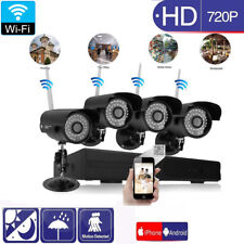 8CH Wireles NVR Outdoor Wifi IR-CUT Network Camera Home Security System No HDD