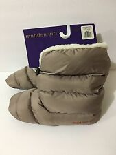 "WOMEN""S MADDEN GIRL HOUSE BOOTS Warm Gray M Size (7-8) New $38 MSRP"