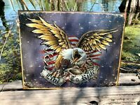 Live To Ride Vintage Metal Tin Sign Wall Decor Garage Man Cave Home Rustic Shop