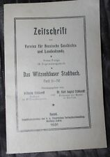 Witzenhäuser Stadtbuch Teil II-IV 1931 Witzenhausen Hessen sehr selten!