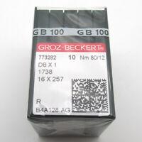 100 pièce Groz Beckert DBX1 1738 16X257 Aiguilles de Machine à Coudre