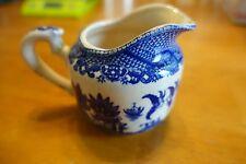 Vintage Blue Willow Creamer made in Japan Flow Blue