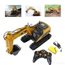 Remote Control Excavator Construction Tractor Vehicle Truck Toy Digger Car