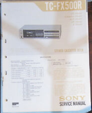 Sony TC-FX500R service manual and troubleshooting guide (original copies)