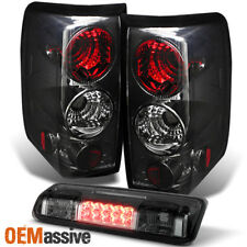 Fits 04-08 Ford F150 Styleside Body Smoked Tail Lights + Rear LED 3Rd Brake Lamp