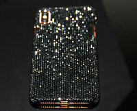 For iPhone X XR XS Max 8 Bling Black Diamond Case Cover WITH SWAROVSKI ELEMENTS