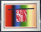 JAMES ROSENQUIST HORIZON BAR FRAMED 1973 MIXED MEDIA SERIGRAPH SCREEN PRINT ART