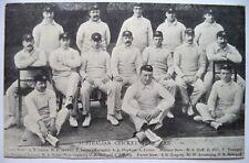 AUSTRALIA TO ENGLAND 1905 RARE ORIGINAL CRICKET POSTCARD & FIXTURE LIST