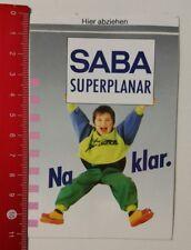 Aufkleber/Sticker: SABA Superplanar - Na klar (040417116)
