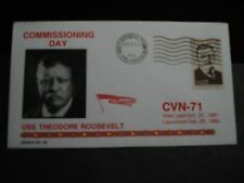 USS THEODORE ROOSEVELT CVN-71 Naval Cover 1986 KENICK COMMISSIONED Cachet FDC