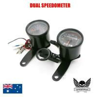 Black Motorcycle 12V LED Odometer Tachometer Speedometer cafe racer yamaha honda