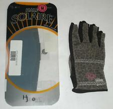 Lot of 3 HJ Glove Women's Brown Leopard Solaire Half Length Golf Glove, M, Right