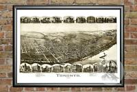 Old Map of Toronto, OH from 1899 - Vintage Ohio Art, Historic Decor