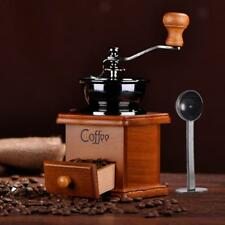 Manual Coffee Bean Spice Nuts Grinder Hand Mill Ceramic Core Antique + Scoop