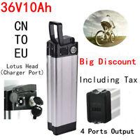 36V 10.4Ah 350W Lotus Head Li-ion E-bike Battery for Electric Bicycle Bottom Out