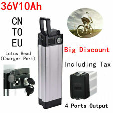 36V 10.4Ah 350W Lotus Head Lithium Li-ion E-bike Battery for Electric Bicycle
