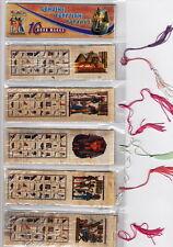 "LOT OF 10 HIEROGLYPHIC ALPHABET BOOKMARKS FR EGYPT,size (180 mm)7.2""X(40mm)1.5"""
