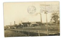 RPPC Wickwire Mill from Southwest CORTLAND NY Real Photo Postcard
