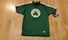 Adidas Boston Celtics Boys Tshirt Brand New Green NBA Basketball Childrens Kids