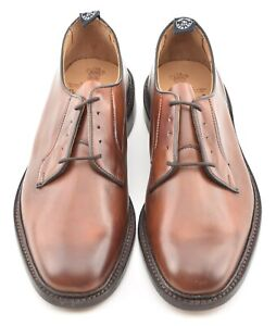 NEW W BOX | TRICKERS 9UK CHESTNUT ROBERT PLAIN TOE DERBY DRESS SHOES TODD SNYDER